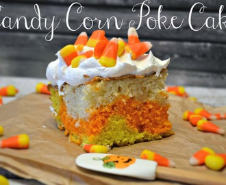 Candy Corn Poke Cake #Recipe
