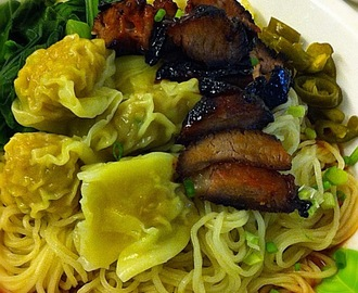 Wanton Mee with Cha Siew & Choy Sum