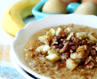 Banana Whipped Eggy Oatmeal