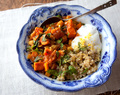 Moroccan Chickpea & Sweet Potato Stew with Quinoa