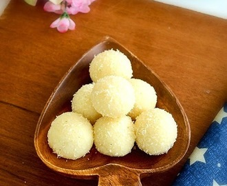 COCONUT LADOO RECIPE | COCONUT CONDENSED MILK LADOOS | 2 INGREDIENTS COCONUT LADOO RECIPE