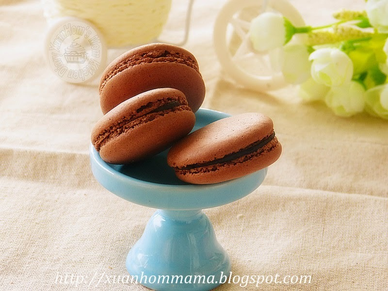 法式巧克力马卡龙 ( French Chocolate Macaroons)