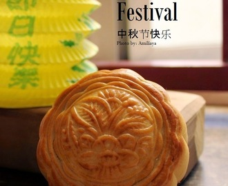 Red Bean Moon Cake 红豆沙月饼