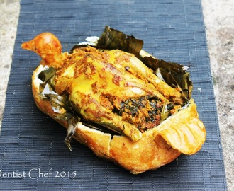 Resep Ayam Betutu Bali (Salt Crusted and Banana Leaves Wrapped Roasted Balinese Spicy Chicken)