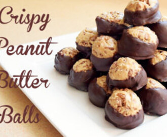 Crunchy Peanut Butter Balls Recipe and Dessert Share-Fest