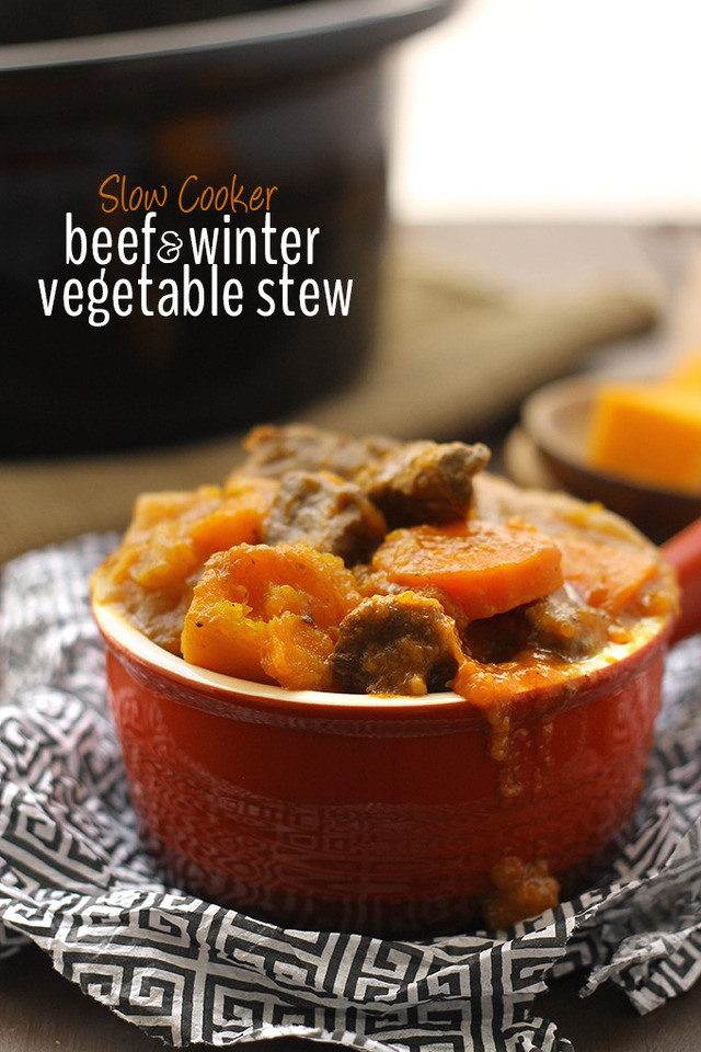 Slow Cooker Beef and Winter Vegetable Stew