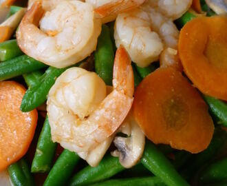 Stir Fry French Beans with Prawn Cutlets四季豆酱炒虾仁 (Featured in Group Recipes)
