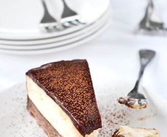 Chocolate & orange cheesecake