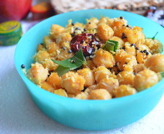 Chana Sundal/Chickpea Stirfry
