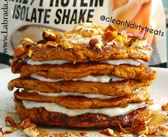 Low Carb Pumpkin Protein Pancakes with Jamie Eason Whey Isolate