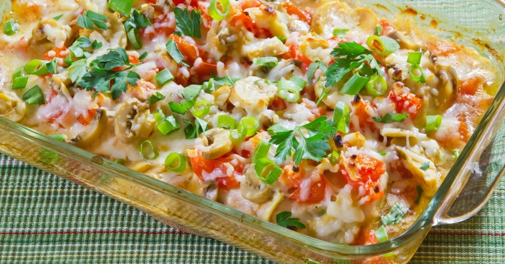 Cheesy Chicken, Tomato, And Mushroom Casserole – 12 Tomatoes