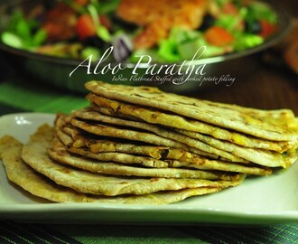 Aloo Paratha – Stuffed Indian Flatbread with Cooked Potato Filling