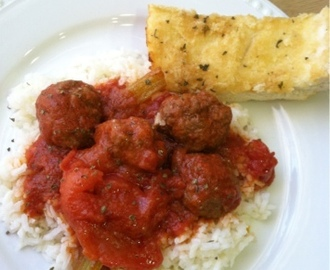 Sunday Meatballs and Rice