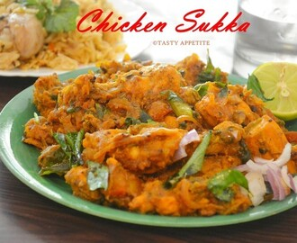 Chicken Sukka / Spicy Chettinad Chicken Sukka Recipe