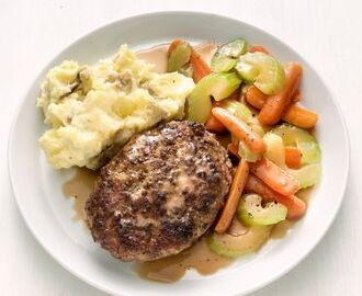 Salisbury Meatloaf and Potatoes