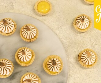 How to Make MINI LEMON MERINGUE PIES! | Cupcake Jemma
