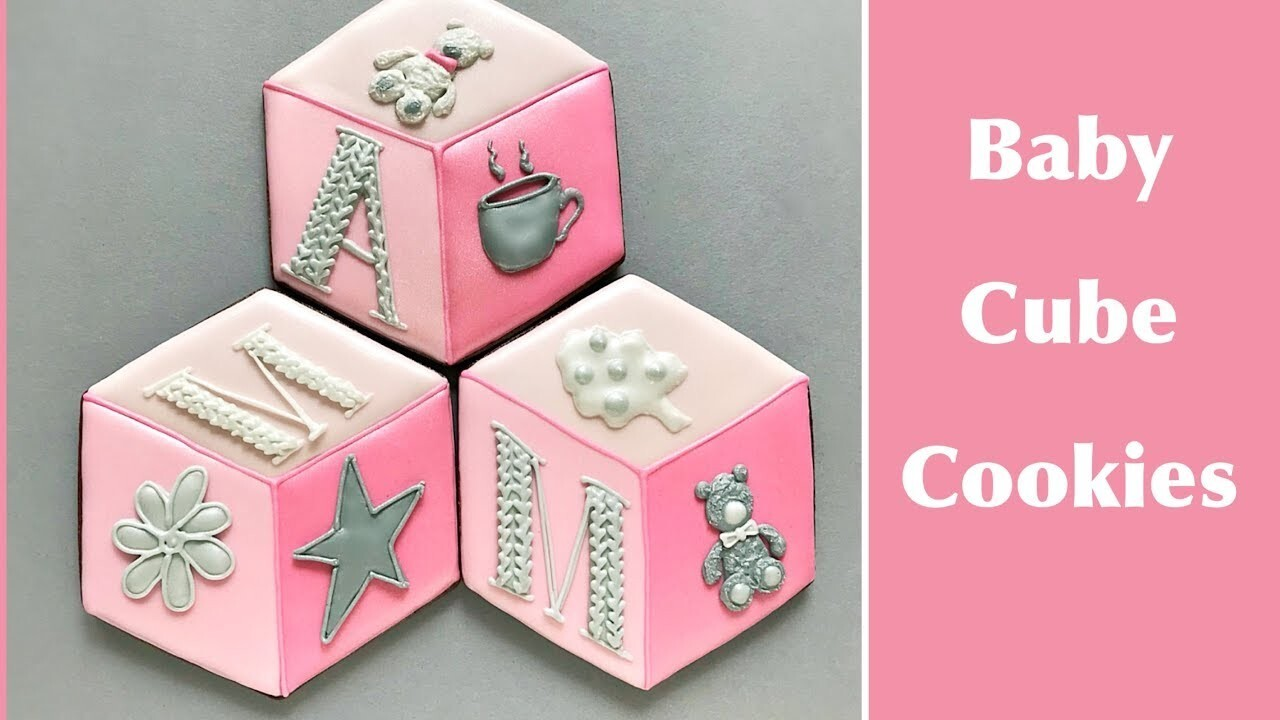 Baby Cube Cookies. Just a cute idea for Baby Shower or Birthday party.