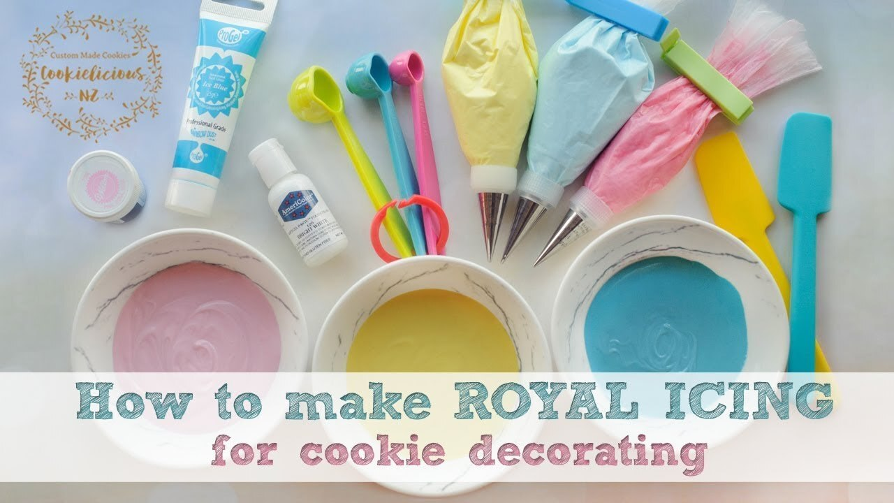 How to make ROYAL ICING - PLUS how to store your icing for future use