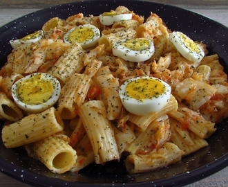 Cod with pasta and egg | Food From Portugal