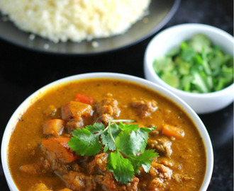 Slow Cooker Squash & Ground Beef Curry {paleo & AIP}
