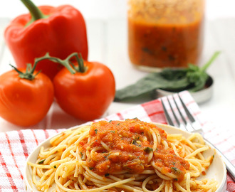 Roasted Red Pepper and Tomato Sauce