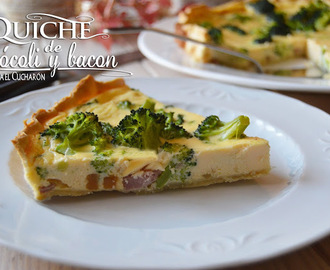 QUICHE DE BRÓCOLI Y BACON