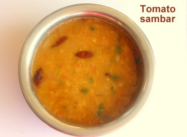 Tomato sambar recipe – How to make tomato or thakkali sambar recipe – tomato sambar for idli and dosa