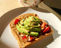 Avocado Almond Strawberry Toast