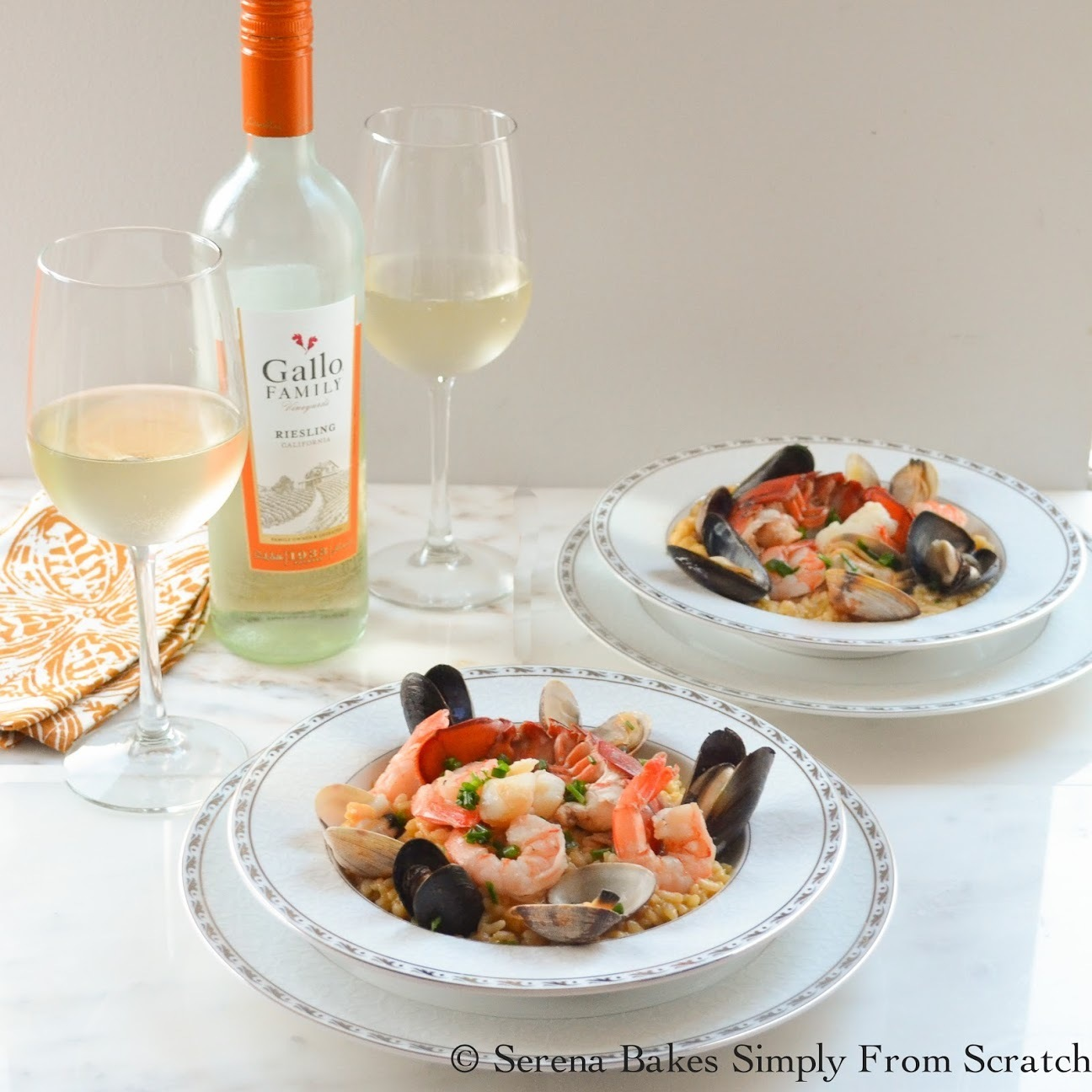 Seafood Risotto  #SundaySupper