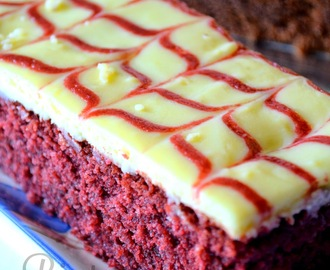 Red Velvet Brownies Cheese Moist & Mantop