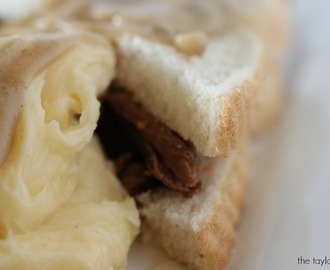 Hot Beef Sandwich with Potatoes and Gravy