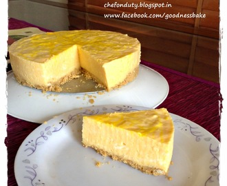 Mango Cheesecake (No Bake)