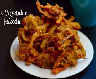 Mix Vegetable Pakoda|Vegetable Fritters|Healthy Tea Time Snack Recipe