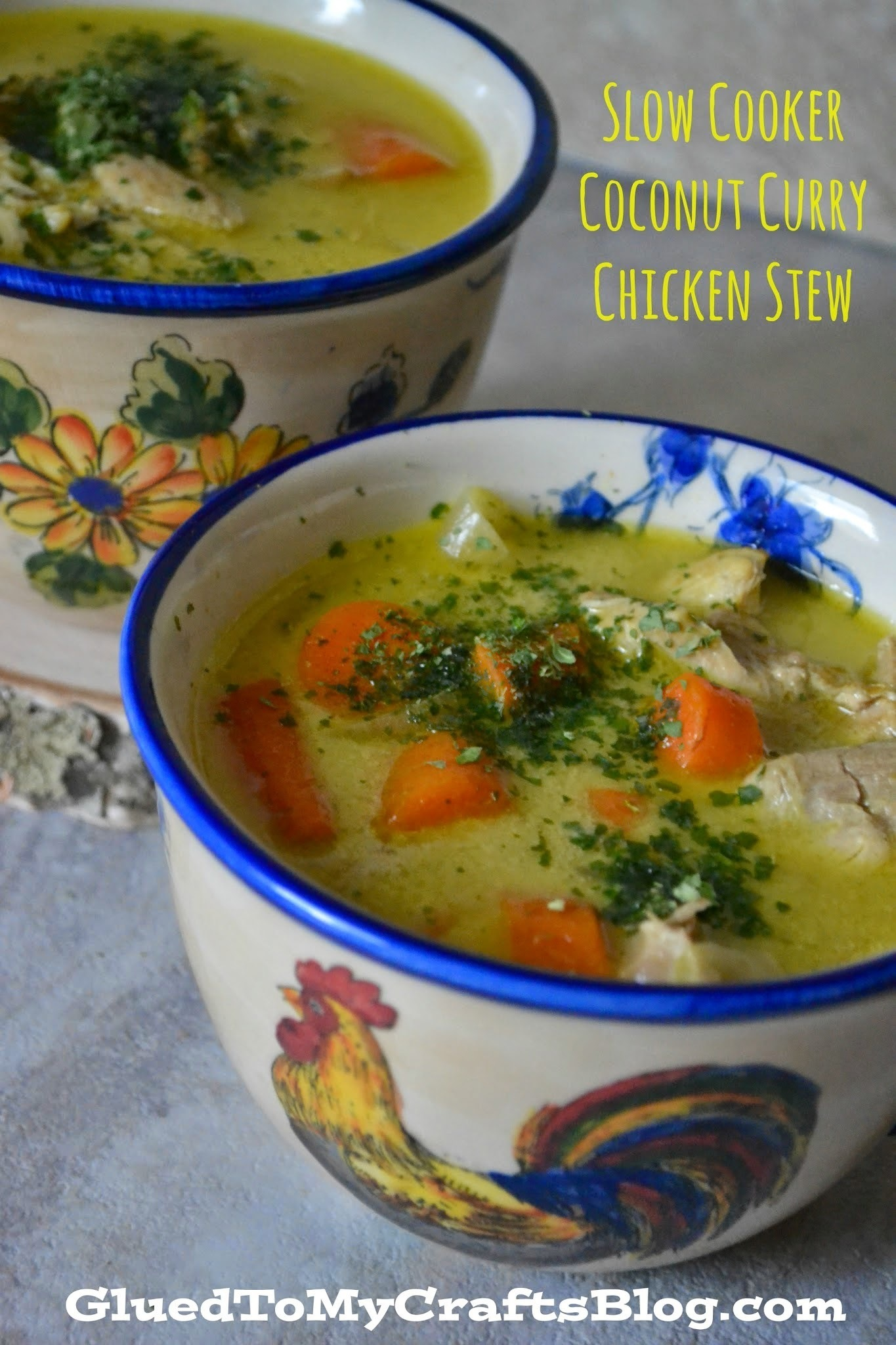 Slow Cooker Coconut Curry Chicken Stew {Recipe} & Giveaway ends 10/23