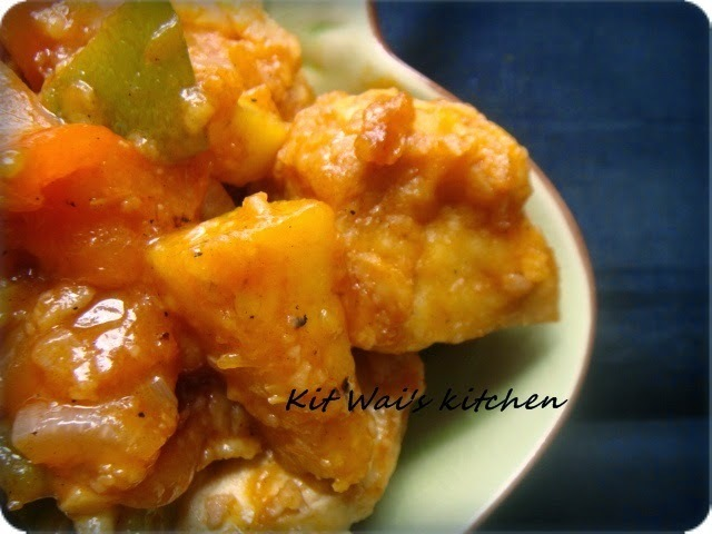 菠萝甜酸豆腐 ~  Sweet & Sour Pineapple Beancurd