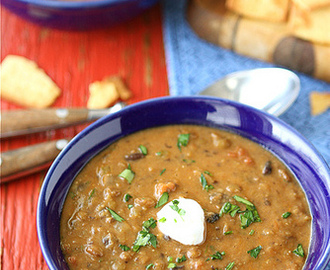 Hearty Lentil & Black Bean Soup with Smoked Paprika Recipe