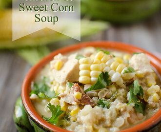 Healthy Crock Pot Jalapeno, Chicken & Sweet Corn Soup