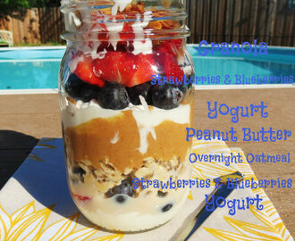 PB&P Breakfast Jar Parfait