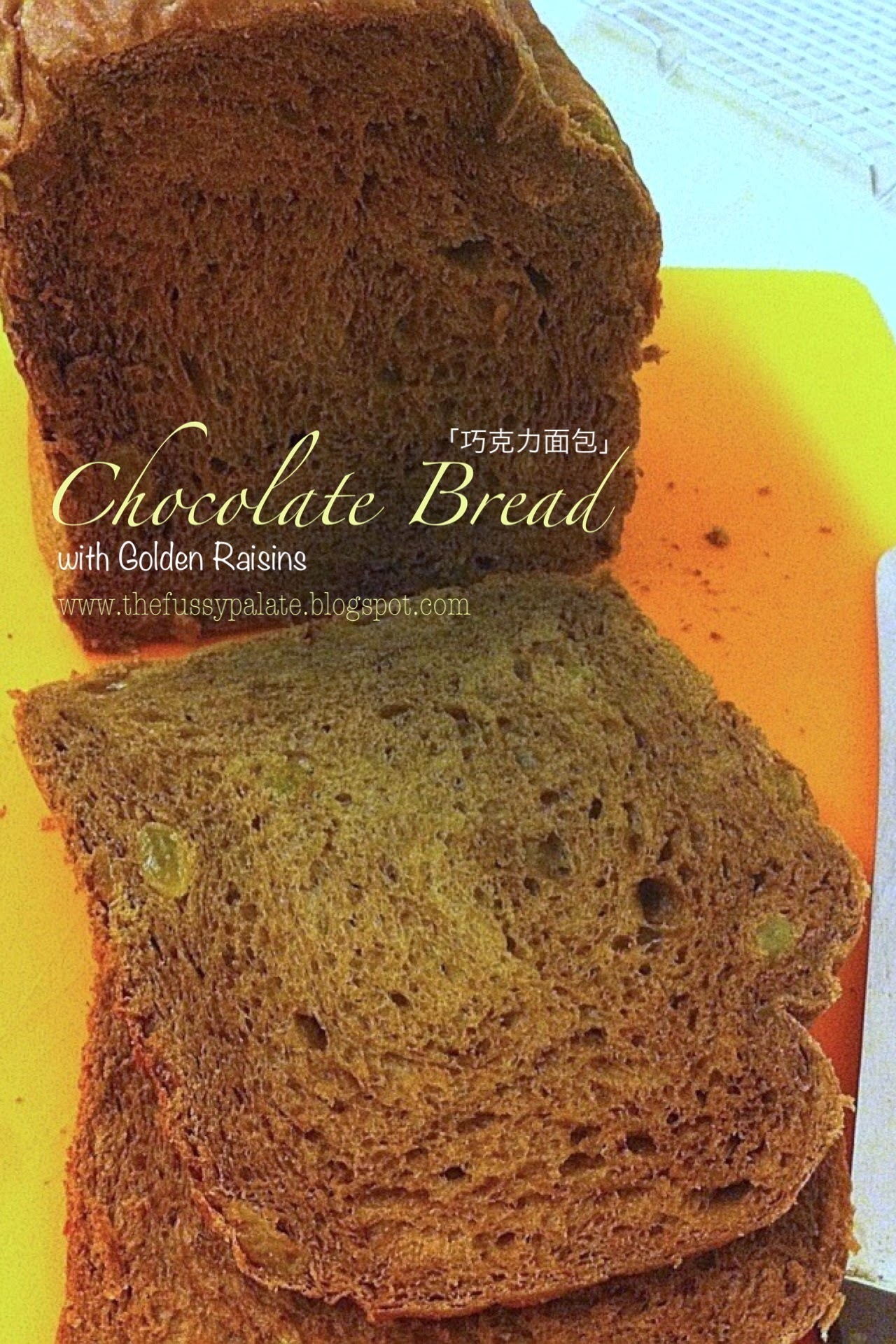 Chocolate Bread with Golden Raisins