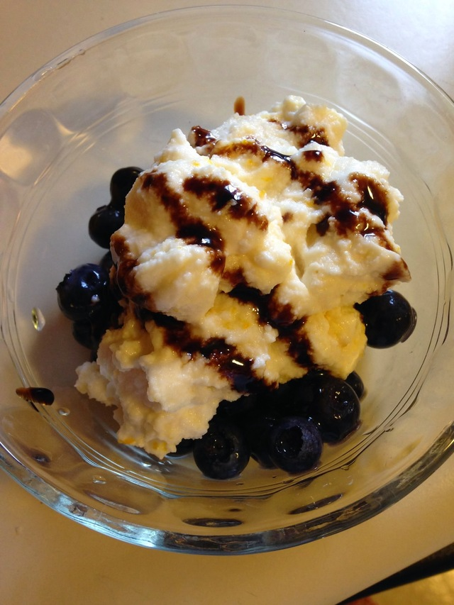#1,357: Blueberries with Whipped Ricotta and Balsamic Syrup (WW+ pts included)