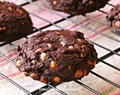 triple chocolate brownie cookies