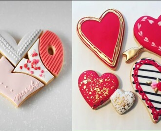 Awesome Cookie  Decorating Ideas #Valentine's Day Cookies Decorating