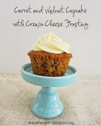 Carrot & Walnut Cupcake with Cream Cheese Frosting