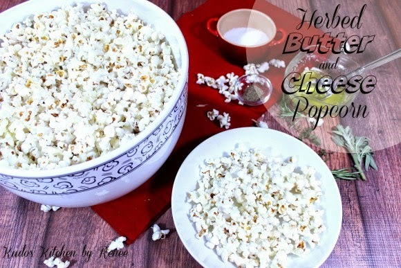Herbed Butter and Cheese Popcorn for #SundaySupper - Red Carpet Party