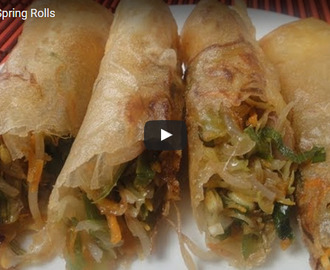 Vegetable Spring Roll Recipe Video