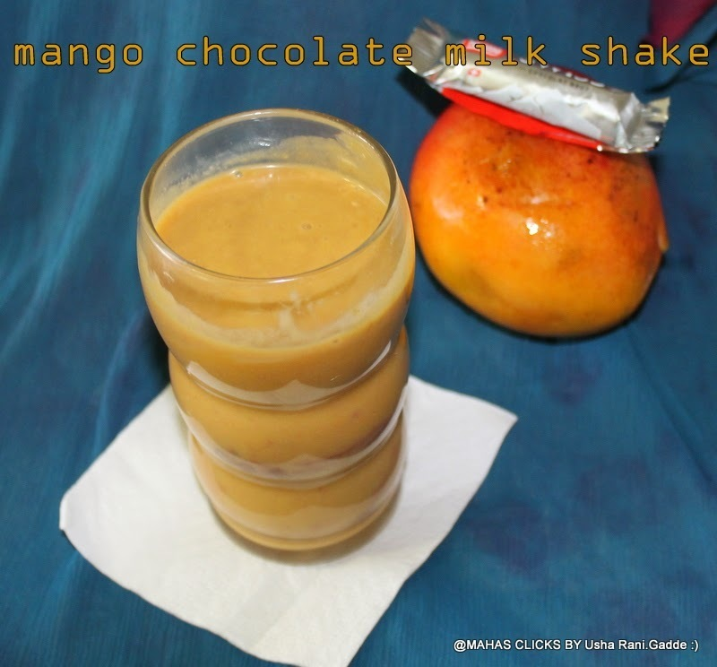 Mango Chocolate Milkshake | Chocolate Mango Milkshake Without Ice cream For Kids | Easy Healthy Milk Shakes