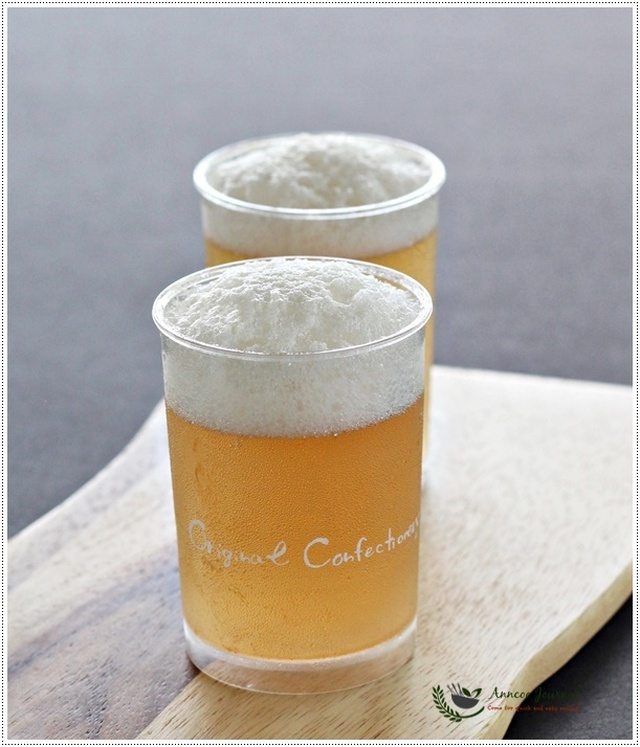 Beer Like Apple Juice Jelly 苹果泡沫果冻