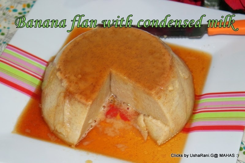 Flan de Banana/Banana pudding-baked version/Banana custard cake with condensed milk/step by step pictures/How to make banana custard at home