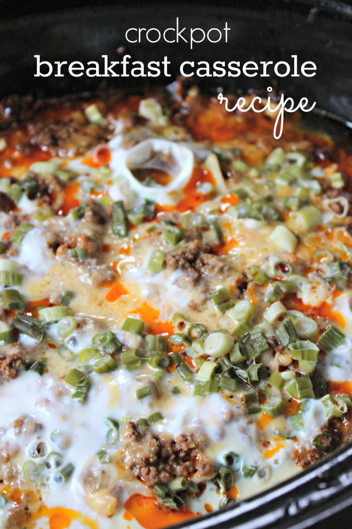 Crockpot Breakfast Casserole Recipe