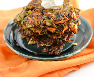 Carrot and Leek Fritters